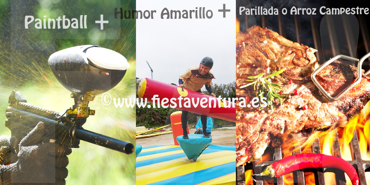 Pack Humor Amarillo + Paintball + Parrillada